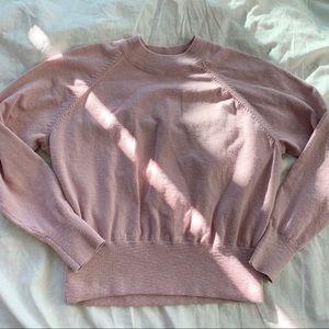 Madewell Mock neck raglan sleeve sweatshirt Pink m